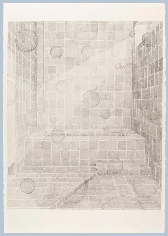 Divine diva, 2009 graphite on paper , 70 x 100 cm