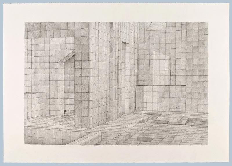 Mrs. White, 2009 graphite on paper , 70 x 100 cm