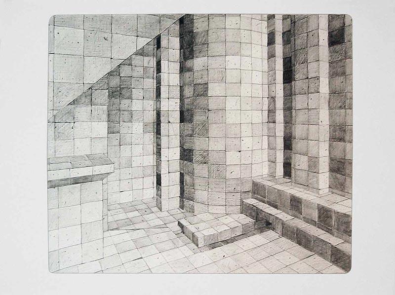 Virtual ambient - graphite, 2002 graphite on paper , 50 x 57 cm