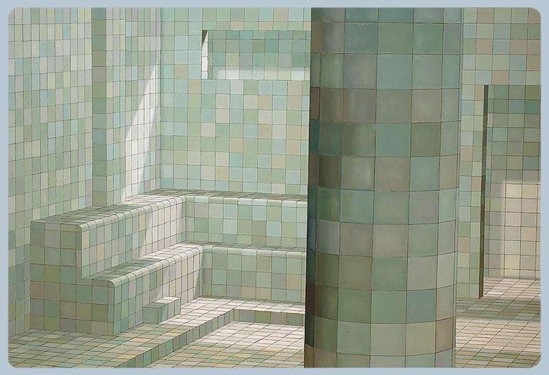 Green sauna, 2003 oil on canvas , 195 x 290 cm