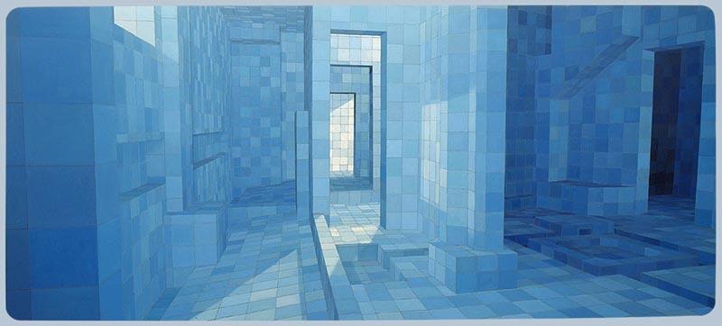 The seducer, 2004 oil on canvas , 230 x 530 cm