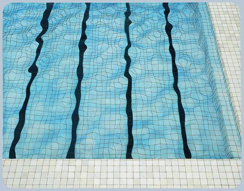 Swimming pool, 2005 oil on canvas , 110 x 140 cm