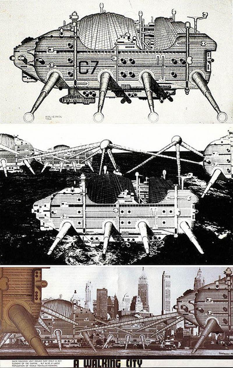 archigram walking city