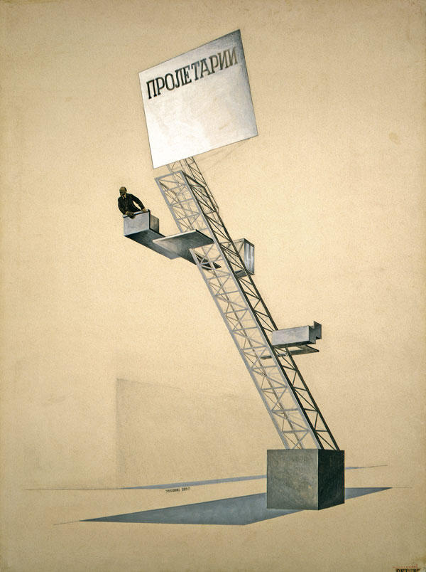 wolfe-el-lissitzky_lenintribune-sketch_1920_collectionstatetretyakovgallery_moscow